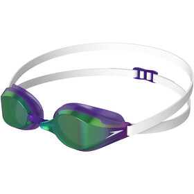 speedo Fastskin Speedsocket 2 Mirror Lunettes de protection, white/violet/green